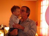dans les bras de mon papi