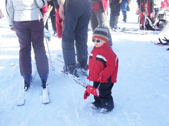 perdu au milieu des skieurs lol!!