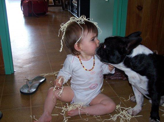 un bisou de mon chien !!!!