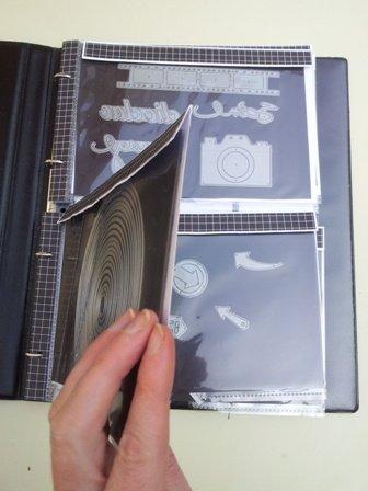 Scrapbooking - Pochette magnétique pour rangement dies (3)