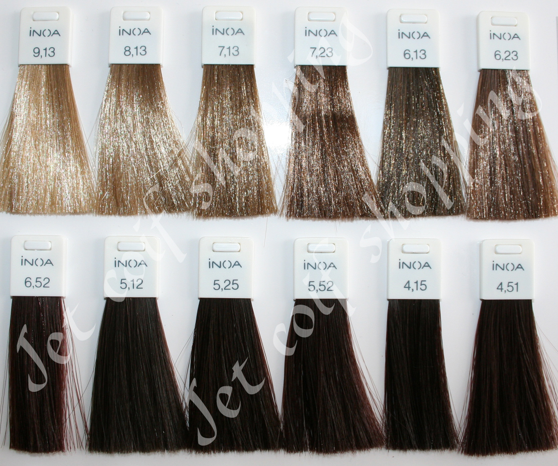 Couleur de cheveux nuancier fashion designs - Couleur inoa nuancier ...