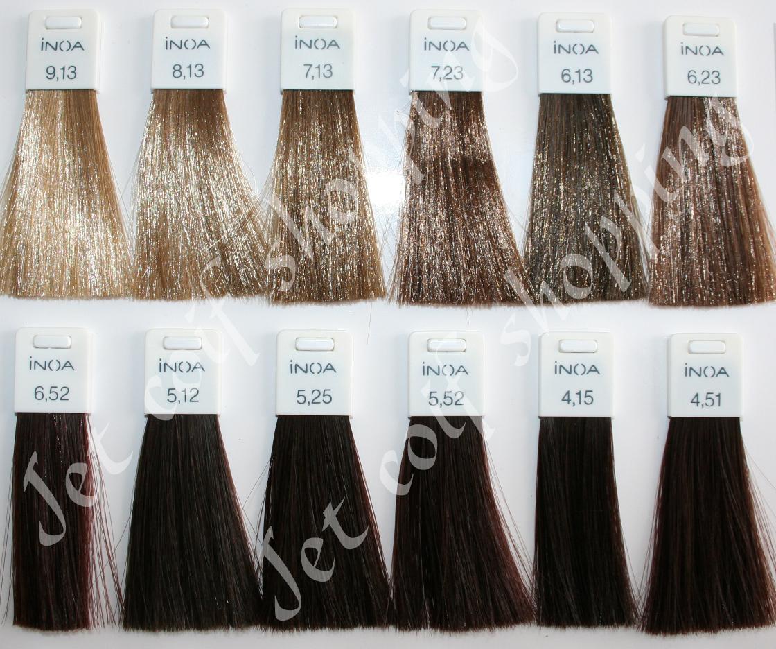 Couleur de cheveux nuancier fashion designs - Couleur inoa nuancier ...