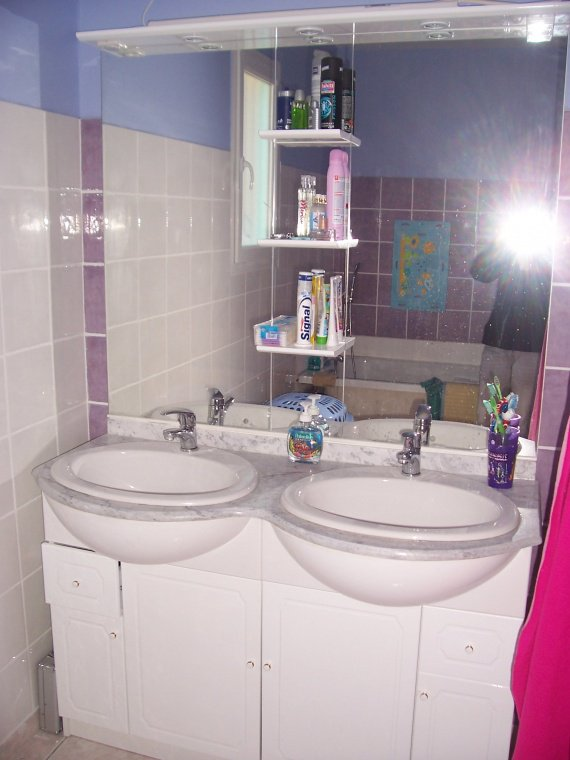 Meuble de salle de bain construction maison rnsoe for Construction salle de bain