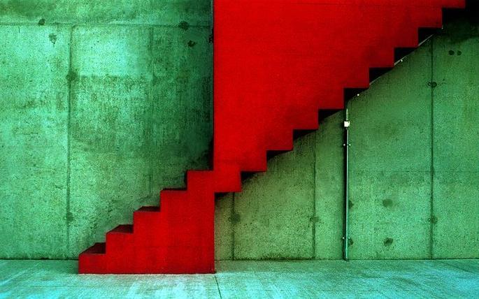 Rouge et vert