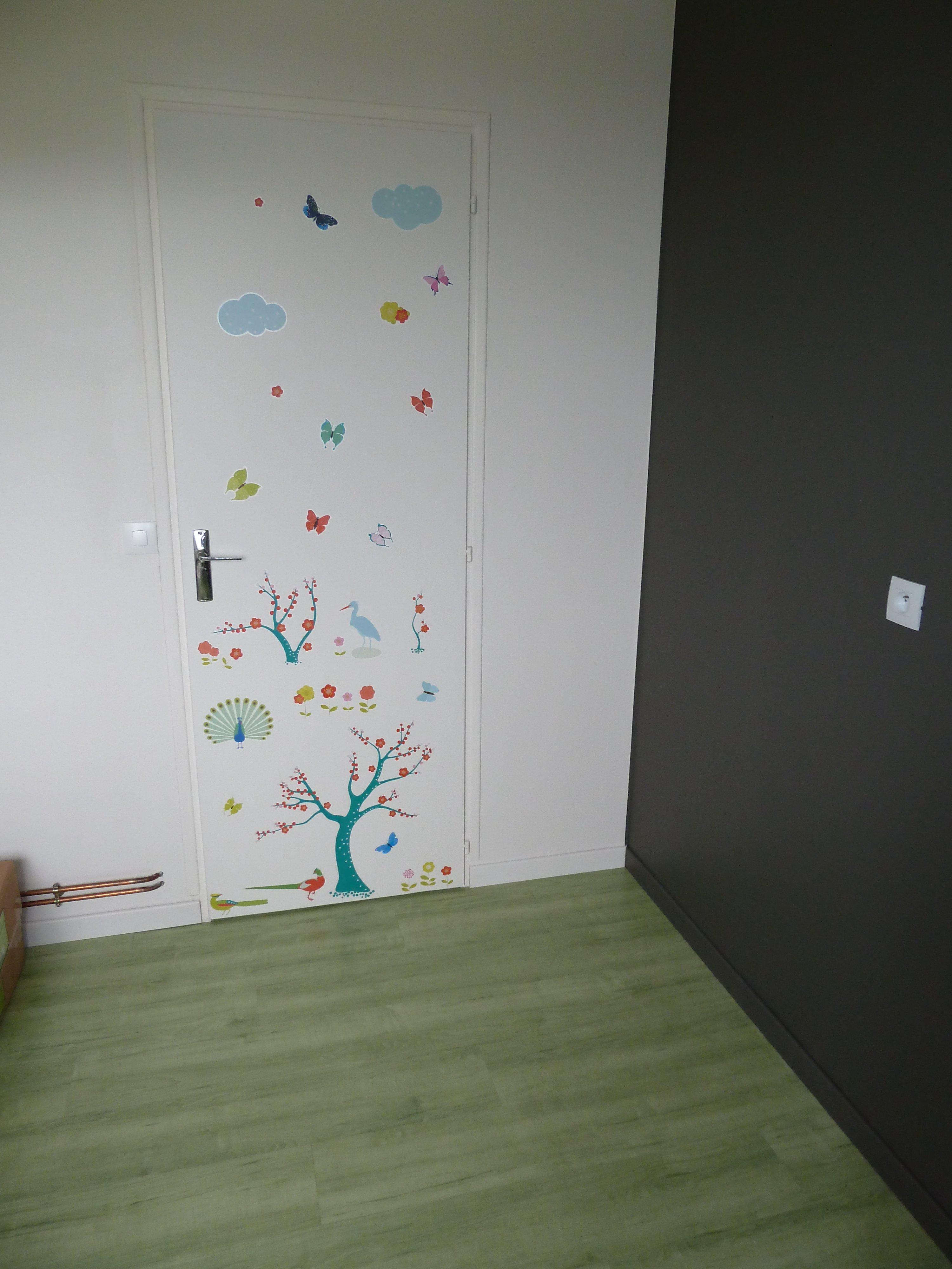 Porte peinte Stickers Travaux Chambre de bébé vanimaster