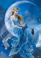 belle femme en bleu