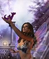 fée aux ailes violettes