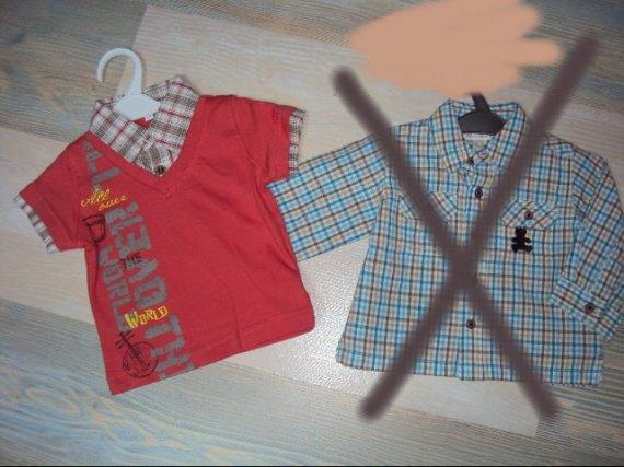 tee shirt chemise 3mois=4.50euros