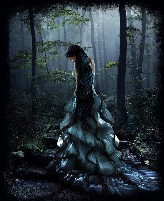 autre jf dans forêt la nuit
