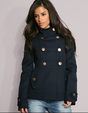 Manteau style militaire pour femme
