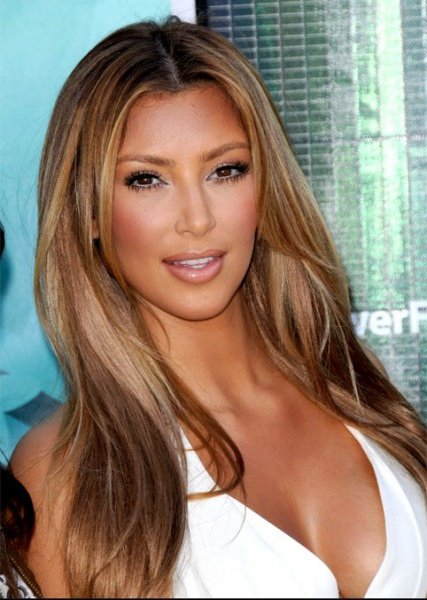 kim kardashian version caramel_reference - Coloration Cheveux Peau Mate
