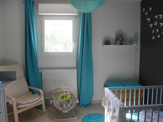 Awesome Chambre Bebe Bleu Turquoise Et Gris Pictures - Design
