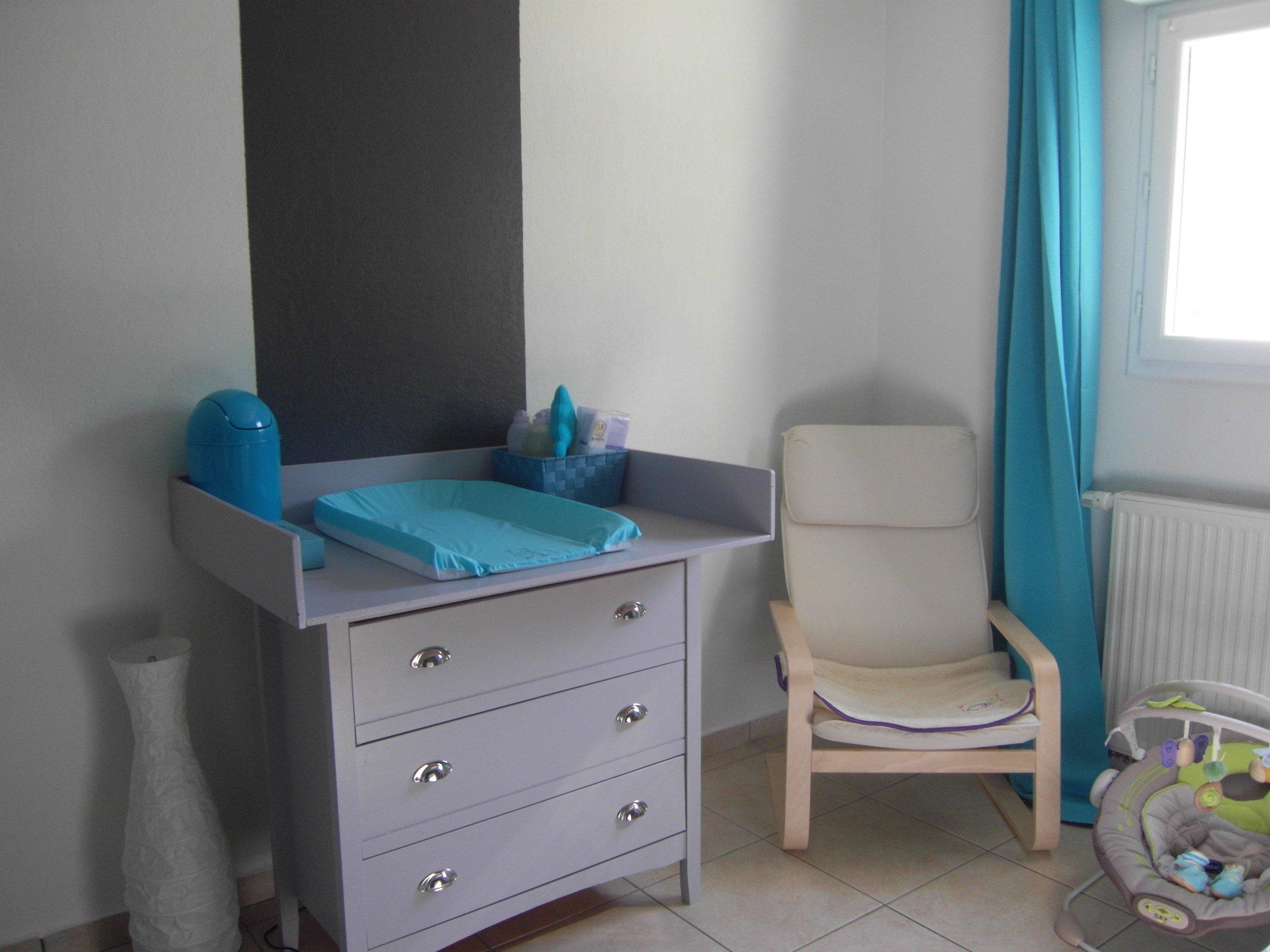 Chambre grise et turquoise pour mon petit gars - Chambre de ...