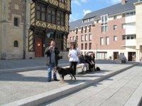 Mazette et Onlyou2009 devant la cathédrale d'Amiens
