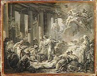 Boucher, Psyché recevant les honneurs divins