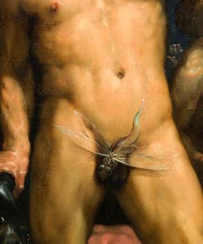 Cornelis van Haarlem, Chute des Titans, Détail, 1588