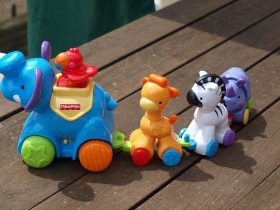 Petit train des animaux Fisher Price