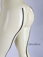 Ishtar and Brute cheeks legging in white-sand latex 5