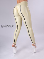 Ishtar and Brute cheeks legging in white - sand latex 1