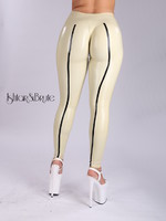 Ishtar and Brute cheeks legging in white-sand latex 4