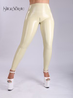 Ishtar and Brute cheeks legging in white-sand latex 2