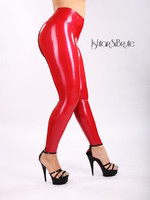 Ishtar and Brute cheeks legging in red latex 4