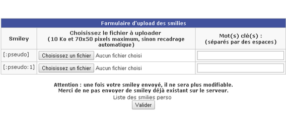 smiley perso charger