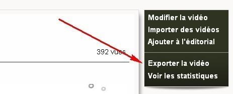 exporter vidéo