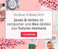 Jeu concours - Saint-Valentin - Box Grossesse