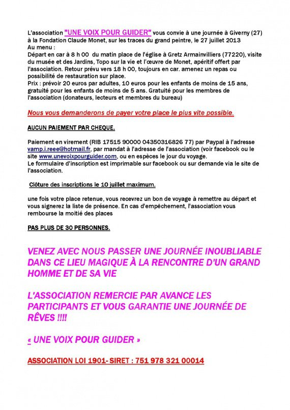 texte visite giverny