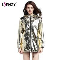 LIENZY-Spring-Punk-Metallic-Style-Women-Jacket-Hooded-Pocket-Zipper-Long-Loose-Casual-Gold-Rock-Coat