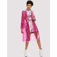 contrast-trim-transparent-festival-raincoat-button-fall-hot-pink-long-sleeve-notched-jackets-coats-s