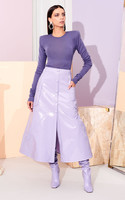 large_christian-siriano-purple-faux-patent-leather-button-down-skirt2