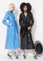 "WS18AW017-THE-22BACK-FIRE""-BLUE-PATENT-TRENCH-WS18AW017-THE-22BACK-FIRE""-PETROL-BLACK-PATENT-TRENCH-"