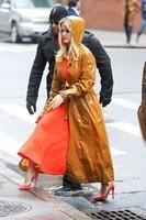 ALICE EVE Arrives at SiriusXM Studios in New York-Rain Cote-HD Pics, Wallpapers, Photos (9)