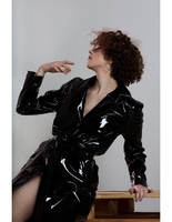 handmade-classical-sexy-knee-length-black-latex-long-women-coat-rain-jacket-trendy-5