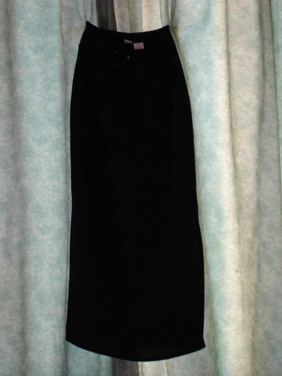 jupe longue noire droite 2012