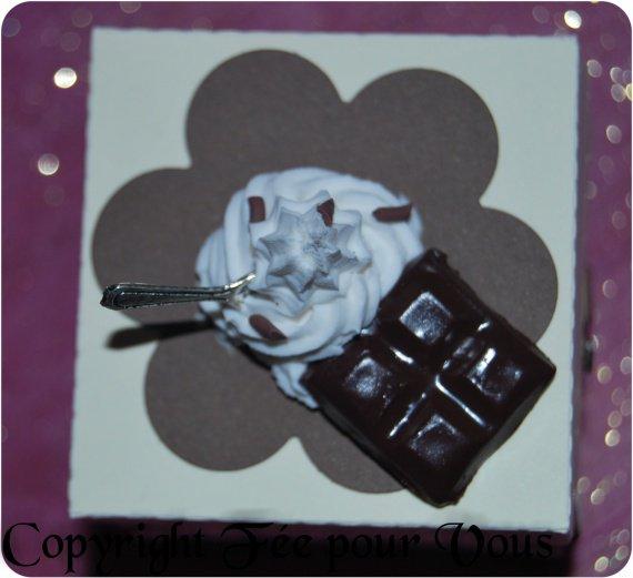 Boite à dragée chantilly chocolat