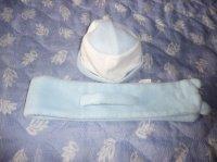 bonnet + echarpe 0/6 mois : 0.50 cts