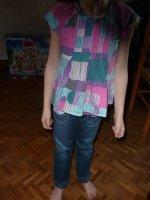 jeans, tunqiue + debardeur ikks 6 ans