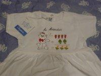 robe blanche CLAYEUX 6 mois 12 euros