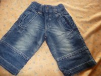 bermuda en jean's tape à l'oeil