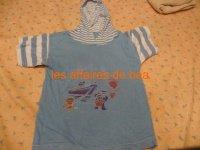 tee shirt à capuche 50 cts