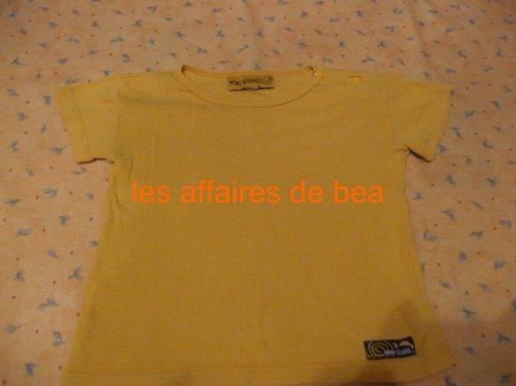 tee shirt jaune 1 euros