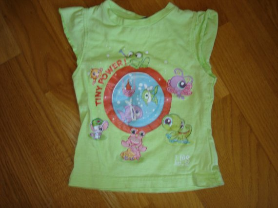 t-shirt petshop 2 ans 2e (neuf mais étroit)
