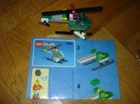 lego helicoptère 5e (complet +notice sans boite)