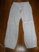 pantalon lin blanc resseré aux chevilles 40 4e