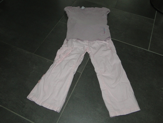 ensemble 4 E (pantalon raccourcissable en pantacourt via bouton)