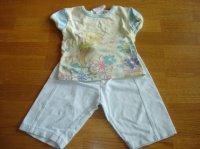 ensemble turquoise bas décathlon + t-shirt disney (noté 2 ans mais taille 18 mois) 3e