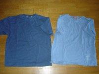 2 t-shirts bleu 6 ans la redoute et okaou 1€ pièce